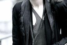 Clothess / black on black on gray on black / by Jess Cook