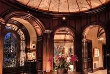 My other home / Grand interiors of mansions, stairways, entrance, colours, beautiful design.