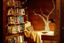 Reading nooks / Places where you can block out reality and escape to other worlds... Perfection!