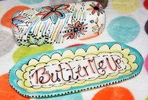 Botter vlootjes, ceramics butter dish / botervloten
