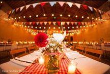 Mariage guinguette / Détails de mariages champêtres colorés