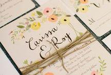 Papeterie de mariage / Par ici vous retrouverez de très belles idées pour votre papeterie de votre mariage.