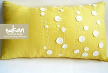 Pillow Inspiration / For many brand new sewers a pillow is a great first project! Here are some images to help spark your creative juices. / by Sew Me