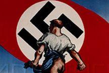 W.W.II AXIS NAZI GERMAN POSTERS AND PROPAGANDA / The posters and propaganda of Nazi Germany during World War II / by Carl Andrew Horn