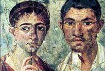 Αρχαία πορτρέτα - Ancient Portrets / Ancient portrays on wood of the mummified dead. The most of them are coming from the Fayum area in Egypt. Roam period, 1st to 3rd century AD