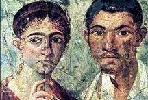 Αρχαία πορτρέτα - Ancient Portrets / Ancient portrays on wood of the mummified dead. The most of them are coming from the Fayum area in Egypt. Roam period, 1st to 3rd century AD