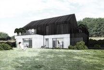 Typical semi-detached house concept