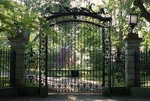 Metal doors, gates, fences