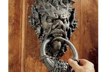 Door knockers, knobs, handles