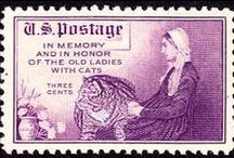 Cats on postage stamps