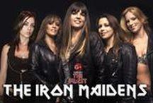 """The Iron Maidens / The Iron Maidens es una banda femenina de heavy metal formada en California en el año 2001. Pensada completamente como un tributo a Iron Maiden.   Formación Kirsten """"Bruce Chickinson"""" Rosenberg en voz, Linda """"Nikki McBURRain"""" McDonald en la batería, Courtney """"Adriana Smith"""" Cox en guitarra, Nikki """"Davina Murray"""" Stringfield en guitarra, Wanda """"Steph Harris"""" Ortiz en el bajo.    http://www.maidenthebeast.com/web/tributes/the-iron-maidens"""