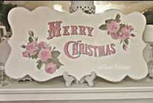 ♡CHRISTMAS ♡ PINK ♡ SHABBY♡ / by Justmeandwhoiam