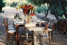 Summer Soiree / We love to eat al fresco. Dine outdoors with cool cutlery, picnic plates and table setting ideas. Bon appéetit!
