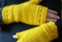 Fingerless Mitts - my designs