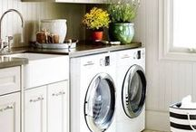 Laundry Rooms / Laundry room design, decor, wall art and storage.