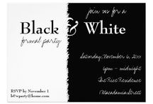 B&W PARTY...(1) / Decorating for different occasions...start with black and white... / by Gäele...by B&W!