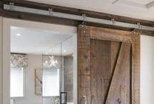 Born in a BARN? / We live in a small house, and hope to incorporate the sliding barn door style in our basement to save space in a stylish way.