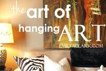 ART of Hanging ART / The way someone displays art - is an art in itself...