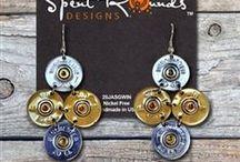 SRD Bullet Earrings / Check out our beautiful handmade shotgun shell and bullet  earrings!