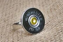 SRD Bullet Rings / Accessorize your hands with our handmade shotgun shell and ammo rings!