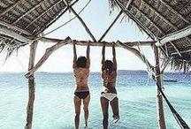 S U M M E R / ~ blue ~ bikinis ~ sunshine ~ beaches ~ ice cream ~ water ~