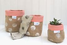 """""""Cosy Pots"""" Fabric Storage Baskets by YOU ARE BRAVE"""