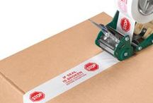 Pre-Printed Carton Message Tape / Easily communicate shipping and handling instructions while sealing cartons and packages.