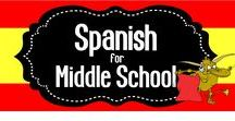 Spanish for Middle School / A collaborative board for middle school Spanish teachers.  Share your favorite resources and ideas here!  If you would like to join, please follow me then send me your Pinterest URL to spanishtheeasyway123@gmail.com.