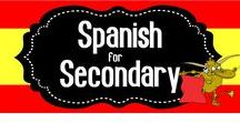 Spanish for Secondary / A collaborative board for all secondary Spanish teachers!  Pin your favorite ideas, activities and resources!  If you would like to join, please follow me then send me your Pinterest URL to spanishtheeasyway123@gmail.com.