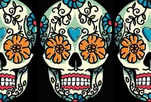 Skulls / Lovely skulls appear in art, in food, in jewelry, in clothing, and in life.