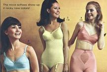 Retro Ads / Vintage advertisements featuring dresses, lingerie, homemaking and shoes!