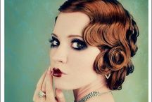 Flapper / Hair, makeup and dress inspiration for a flapper, 20's, gatsby, Halloween costume.