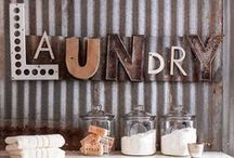 Laundry Room / Decorating and Organizing ideas and inspiration for the laundry room.