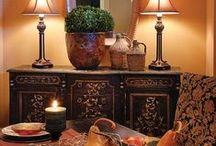 Tuscan Decor / Tuscan Decor for warming up your home.  When Tuscan decor is implemented in a Tuscan home decorating project, it adds warmth.  Choosing the right Tuscan colors can certainly do the trick.