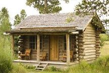 yurts, log cabins, deck tents, farm houses & tree houses / I'd live in a small house and have the outdoors my living room! / by Heather Diane