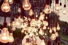 Enchanting reception lighting / Beautiful lighting styling ideas for wedding receptions.