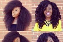 Crotchet Braids For Natural Hair / Crotchet braids give us so much hair versatility! Scroll through for some inspiration and check out www.cravingyellow.com/Instagram:@cravingyellow for the best hair tips on length retention!