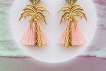 HEAT WAVES / http://shop.suzywan.com/category/heat-waves #suzywandeluxe #mermaids #palmtree #seashell #flamingo #romantic #choker #earrings