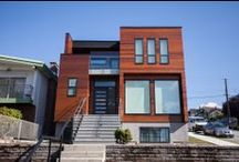 Custom Home - Kootenay / Custom house in East Vancouver with modern cedar exterior and open concept interior