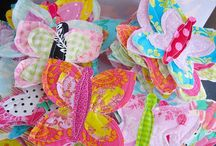 Hearts, flowers, butterflies and birds / Themes for sewing and craft projects.