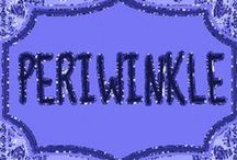 Periwinkleღ / One of my favorite colors is periwinkle