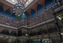 """Bibliotecas y Librerias. / Libraries & Bookstore. / El  saber no ocupa espacio. """" El conflicto no es entre el bien y el mal, sino entre el conocimiento y la ignorancia """" / by Raquel Inés López"""