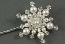 Snowflake Wedding Hair Accessories / Beautiful snowflake hair accessories perfect for a mid winter wedding!