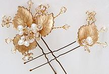 Leaf Wedding Hair Accessories / Inspiration for leaf wedding hair accessories.