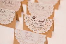 Wedding Place Card Ideas / Inspiration for wedding place cards.