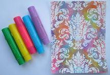 Gelatos et Distress crayons