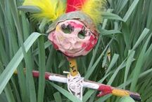 Puppets go Wild in the Forest / Year 1 Clay Puppets inspired by the tribal people of the Amazon Rainforest