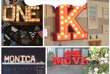 Marquee Letter Lights / Ideas to create marquee letter lights for your wedding, both purchased and DIY.