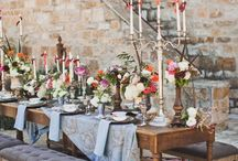 Wedding Table Landscape / Ideas for beautiful table settings.