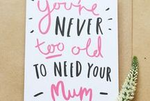 Mother's Day / A fabulous selection of unique and quirky gifts for Mother's Day - because mum deserves to be spoilt!